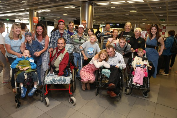 Friday, June 26, 2015: A very special group of 30 children from Belarus landed at Dublin Airport today (Friday, June 26th) as part of an urgent mercy mission by Adi Roche's Chernobyl Children International (CCI) to airlift children out of the region and away from lethal forest fires for respite care in Ireland this summe. Picture Jason Clarke Photography