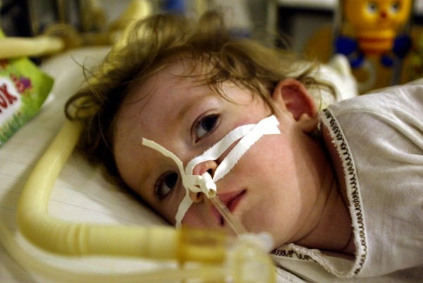 pictured in belarus in december 2003 in gomel childrens hospital was angelina zabrotskay (2 and a half) in the intensive care unit. pic julien behal