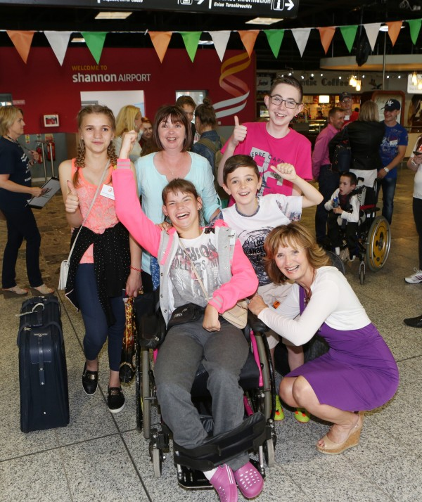 With Compliments Thursday 24th June 2016: The 30th anniversary Chernobyl group arrived in Shannon on Friday.  Photograph Liam Burke/Press 22