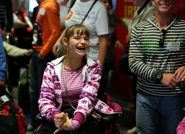 Friday, June 26, 2015: A very special group of 30 children from Belarus landed at Dublin Airport today (Friday, June 26th) as part of an urgent mercy mission by Adi Roche's Chernobyl Children International (CCI) to airlift children out of the region and away from lethal forest fires for respite care in Ireland this summer. Pictured was Nastia Sivakova.  Picture Jason Clarke Photography.