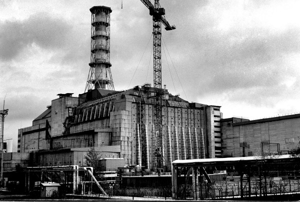 The Chernobyl nuclear power plant. Picture by Julien Behal (2003)