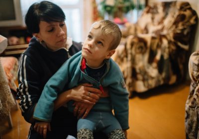Arseniy Vaschilo and his loving mother, Katya