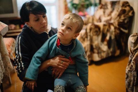 Arseniy Vaschilo and his loving mother, Katya
