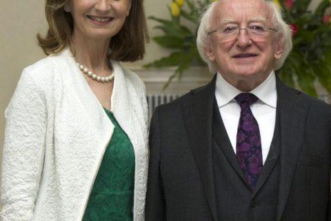 Adi and President Higgins