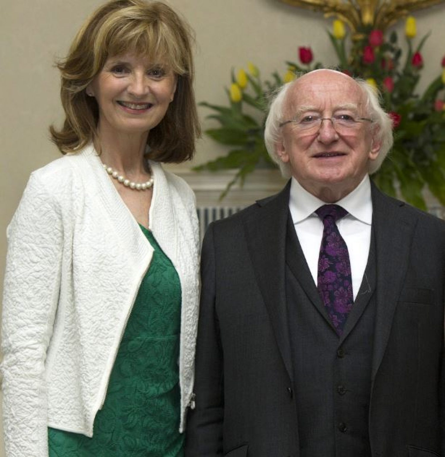 Adi and President Higgins