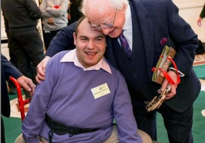 President of Ireland, Michael D Higgins and Sasha Godalev